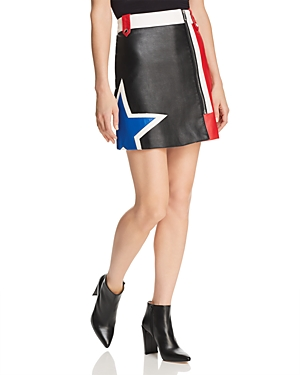 Tommy Jeans Color-Block Faux Leather Racing Skirt - 100% Exclusive