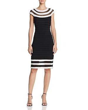Adrianna Papell Contrast-Trim Dress