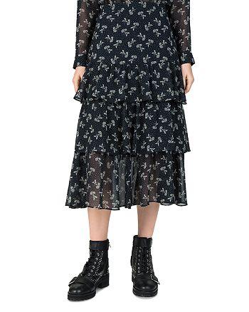 1386fe5b317 The Kooples Bloom Tiered Ruffled Floral-Print Skirt | Bloomingdale's