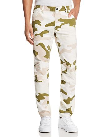 G-STAR RAW - 5620 3D Slim Fit Pants in Milk White Marble