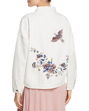 Sadie & Sage - Embroidered Distressed Denim Jacket - 100% Exclusive