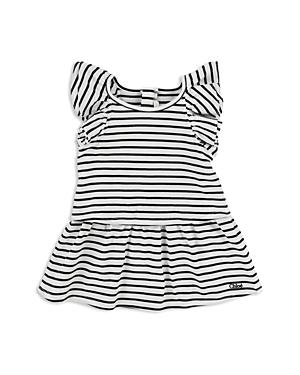 Chloe Girls Striped FlutterSleeve Dress  Baby