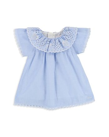 Chloé - Girls' French Scalloped Strawberry-Embroidered Dress - Baby