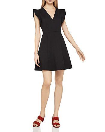 BCBGeneration - Flutter Sleeve Fit-and-Flare Dress