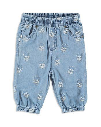 Stella McCartney - Boys' Denim Skull-Print Pants - Baby