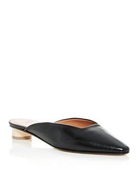 LoQ - Women's Carmen Leather Pointed Toe Mules