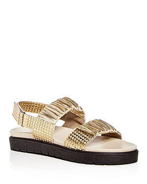 Daniella Lehavi Women's Sahara Soft Leather Slingback Platform Sandals