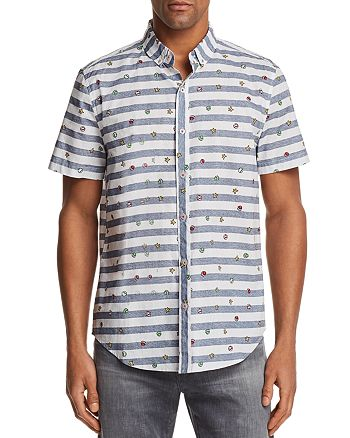 b1b9dee42 Sovereign Code Nintendo Stripe Short Sleeve Button-Down Shirt - 100 ...