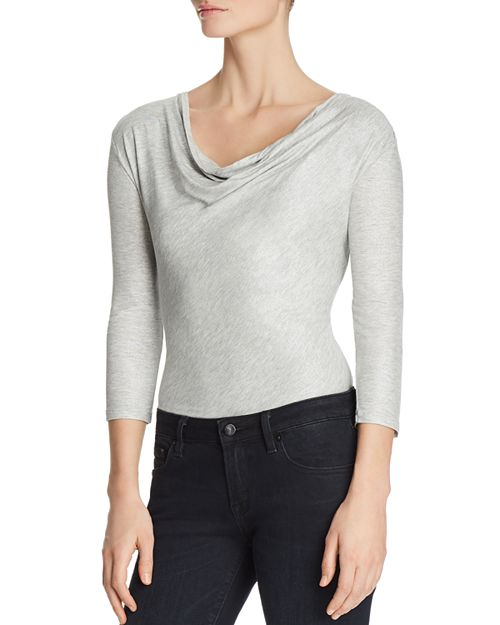 Majestic Filatures - Metallic Cowl Neck Top