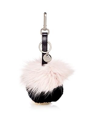 Max Mara Fur Pom-Pom Bag Charm