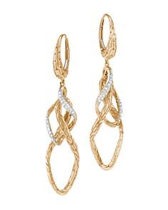 John Hardy 18K Yellow Gold Classic Chain Pavé Diamond Drop Earrings - Bloomingdale's_0