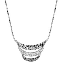 John Hardy Sterling Silver Classic Chain Pavé Diamond Arch Necklace - 100% Exclusive - Bloomingdale's_0