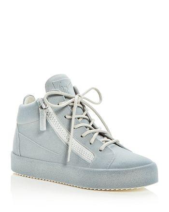 Giuseppe Zanotti - Women's Velvet Mid Top Platform Sneakers