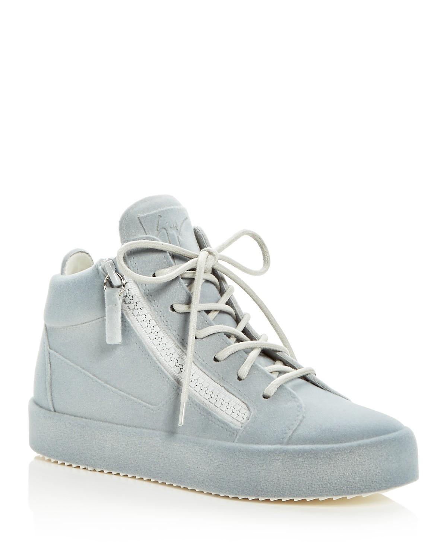 Giuseppe Zanotti Women's Velvet Mid Top Platform Sneakers MQEUl