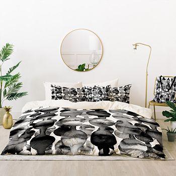 Deny Designs - Marta Spendowska Watercolor Droplets Bed-in-a-Bag, Twin