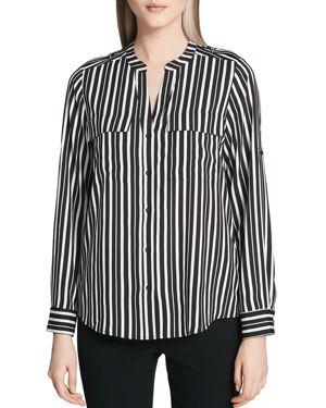 Calvin Klein Striped Long Sleeve Blouse