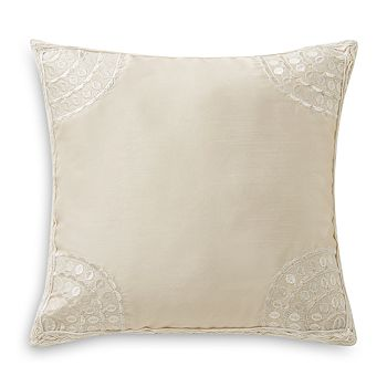 "Waterford - Sydney Embroidered Decorative Pillow, 12"" x 12"""