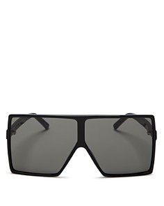 Saint Laurent - Women's Betty Oversized Square Shield Sunglasses, 68mm