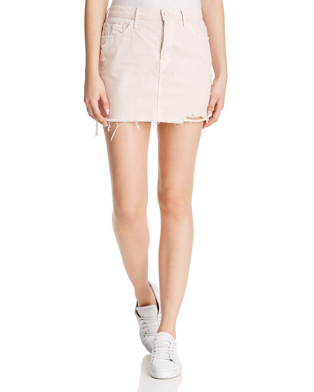the-vagabond-distressed-frayed-denim-mini-skirt by mother