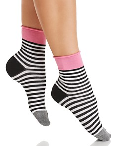 HUE Roll Top Shortie Socks - Bloomingdale's_0