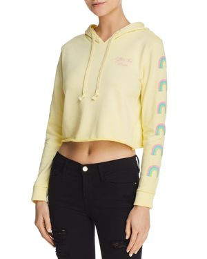DESERT DREAMER After The Storm Cropped Hooded Sweatshirt - 100% Exclusive in Washed Yellow