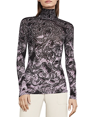 Bcbgmaxazria Brynne Printed Turtleneck Top