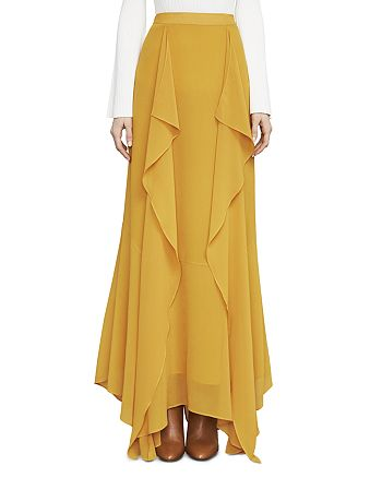 BCBGMAXAZRIA - Amalli Ruffled Maxi Skirt
