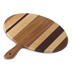 Dansk - Signy Striped Wood Oval Handled Tray - 100% Exclusive
