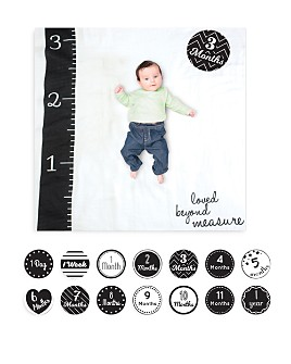 Lulujo - Loved Beyond Measure Baby Blanket & Age Cards Set
