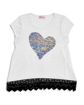 Design History - Girls' Reversible-Sequin-Heart Tee - Little Kid