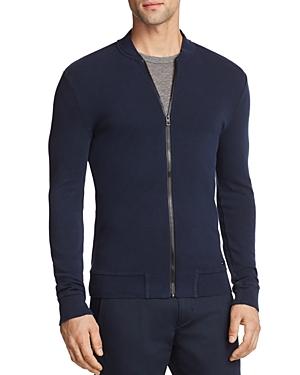 Boss Orange Zalter Lightweight Waffle Zip-Up Sweatshirt