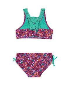 Hula Star - Girls' Paisley Dream 2-Piece Crochet Swimsuit - Little Kid