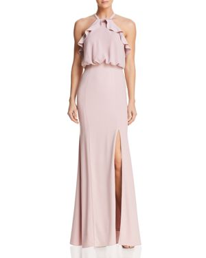 DECODE 1.8 Ruffled Blouson Gown - 100% Exclusive in Blush