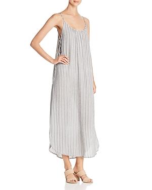 Aqua Striped Lace-Up Maxi Dress - 100% Exclusive