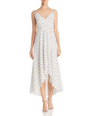 Aqua Polka Dot Faux-Wrap Maxi Dress - 100% Exclusive