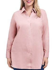 Foxcroft Plus Vera Button-Down Tunic Top - Bloomingdale's_0