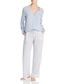 Hanro - Sleep & Lounge Woven Viscose Long Sleeve Top & Pants