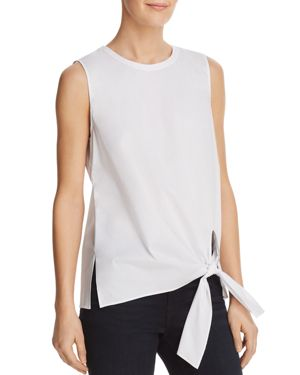 DYLAN GRAY Side-Tie Top in White