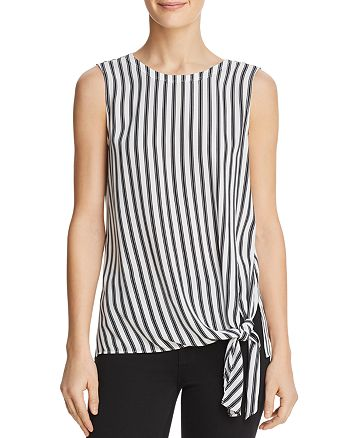 Dylan Gray - Striped Side-Tie Top