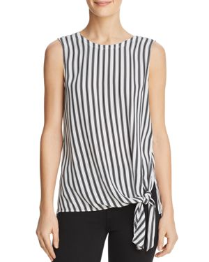 DYLAN GRAY STRIPED SIDE-TIE TOP