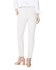 NYDJ - Sheri Frayed-Hem Slim Ankle Jeans in Feather