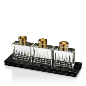 Waterford Lismore Diamond Candlesticks, Set of 3