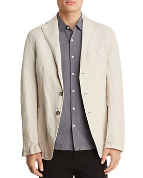 Eidos - Garment Washed Cotton Regular Fit Sport Coat