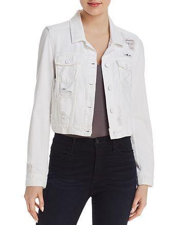 PAIGE - Vivienne Denim Jacket in Ultra White Destructed