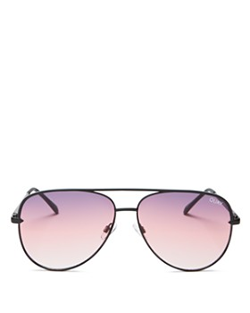 Quay - Women's #QUAYXDESI Sahara Aviator Sunglasses, 58mm