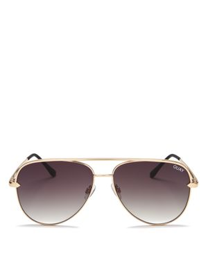 X DESI PERKINS SAHARA 60MM AVIATOR SUNGLASSES - GOLD/ SMOKE
