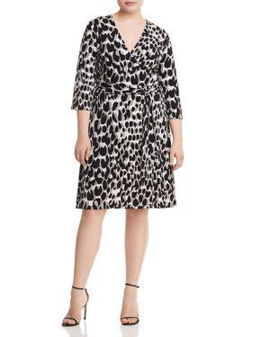 Leota Plus Printed Faux-Wrap Dress