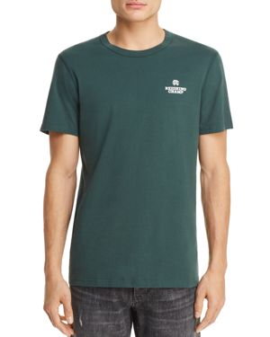 REIGNING CHAMP Logo Short Sleeve Tee in Court Green/ White