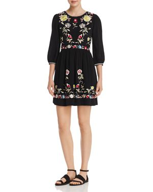 French Connection Saya Floral Embroidered Dress