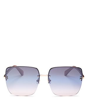 kate spade new york Women's Janay Mirrored Square Sunglasses, 61mm